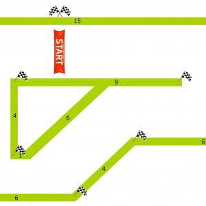 מסלול המירוץ מכוניות על שלט